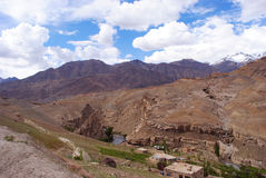 A village landscape In Ladakh Royalty Free Stock Photography