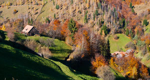Village landscape in Romania Stock Photos