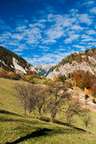 Village landscape in Romania stock photos