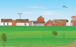 Village Landscape royalty free stock images