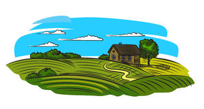 Village and landscape Royalty Free Stock Photography