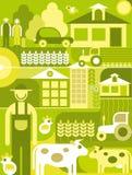 Village landscape vector illustration Stock Images