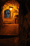 Village lane passage, Pigna, Liguria, Italy Stock Photography