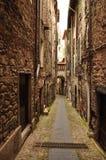 Village lane passage, Pigna, Liguria, Italy Royalty Free Stock Photo