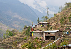 Village in Langtang, Nepal Stock Image