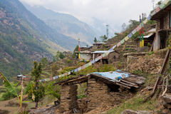 Village in Langtang, Nepal Royalty Free Stock Image