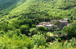 Village in Languedoc Rousillion Royalty Free Stock Photography