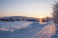 Village in Lapland Royalty Free Stock Images