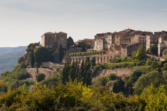 Village of Lauris in the South of France Royalty Free Stock Image