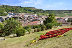 Village of Lautrec in France. Aeriel view of village Lautrec in southern France. Midi-Pyrénées region, Tarn department Royalty Free Stock Image