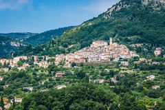 Village of Le Bar sur Loup in southeastern France, department Alpes Maritimes. Village Le Bar sur Loup in southeastern France, department Alpes Maritimes royalty free stock photography