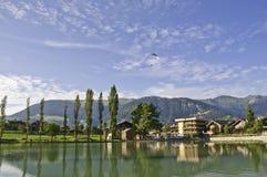 The village of Le Praz, close to the Vanoise NP Royalty Free Stock Image