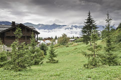The village of Le Praz, close to the Vanoise NP Stock Photography