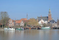 Village of Leer,East Frisia,Germany Royalty Free Stock Photography