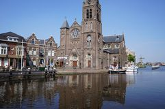 The village of Leidschendam in the Netherlands. The village of Leidschendam in the province of South Holland, with the canal called The Vliet Stock Photography