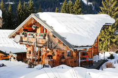 Village Les Gets in Portes du Soleil region,France Royalty Free Stock Images