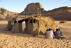 Village in Libyan desert Royalty Free Stock Photo