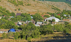 Village life in Azerbaijan. The old town of Altiagac in Azerbaijan has a nice old style relaxing ambiance nested in the foothills of the Caucasus Stock Image