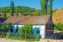 Village life in Azerbaijan. The old town of Altiagac in Azerbaijan has a nice old style relaxing ambiance nested in the foothills of the Caucasus Royalty Free Stock Images