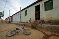 Village life in Brazil in Petrolina royalty free stock image
