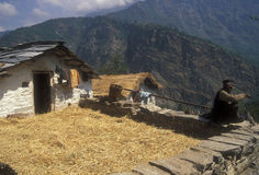 Village Life in the Himalaya's Royalty Free Stock Photos