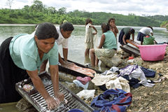 Village life of Indians Coco River, Nicaragua Royalty Free Stock Photo
