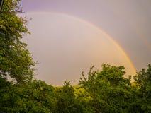 Village life. Rainbow. natural living.