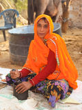 Village life, rural Rajasthan, India Royalty Free Stock Photography