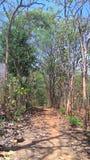 Village Limits road in Sukoharjo district boundaries Royalty Free Stock Photos