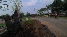 Village Limits road in Sukoharjo district boundaries Stock Photo