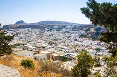 The village of Lindos Stock Photography