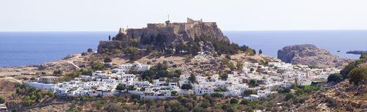 Village Lindos on island Rhodes Stock Photo