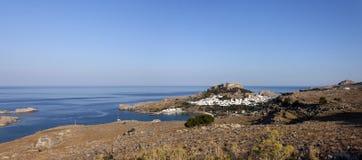The village of Lindos, Rhodes Stock Photos