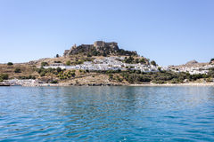 The village of Lindos, Rhodes Stock Image