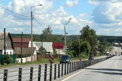 The village of Lipna. 131 kilometers from Moscow. Royalty Free Stock Images