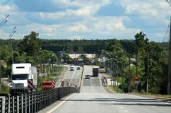 The village of Lipna. 131 kilometers from Moscow. Stock Photo