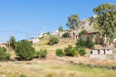 The village Listaros in the south of Crete Royalty Free Stock Image