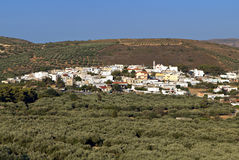Village of Lithines at Crete island, Greece. Royalty Free Stock Photo