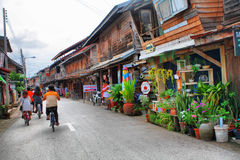 Village. Local thai village,street town Stock Photos