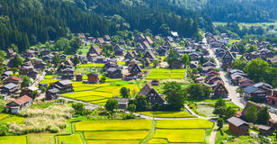 Village located in Gifu Prefecture, Japan. Known for being the site of Shirakawa-go, traditional famous village.  Stock Photo