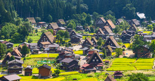 Village located in Gifu Prefecture, Japan. Known for being the site of Shirakawa-go, traditional famous village.  Royalty Free Stock Images