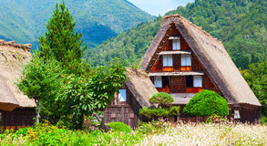 Village located in Gifu Prefecture, Japan. Known for being the site of Shirakawa-go, traditional famous village.  Stock Images