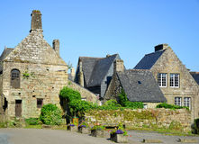 Village of Locronan in France. Stock Photos