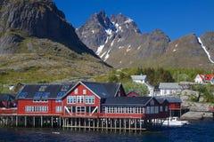 Village on Lofoten Royalty Free Stock Photography