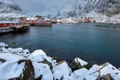 `A` village on Lofoten Islands, Norway stock image
