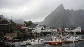 Village on Lofoten royalty free stock photography