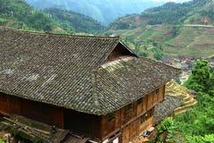 Village in Longji terrace ,Guilin Stock Photos