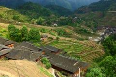 Village in Longji terrace ,Guilin Stock Images