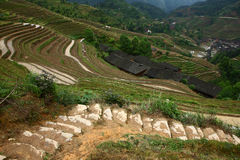 Village in Longji terrace ,Guilin Stock Photography