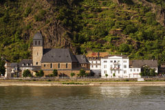 Village at Loreley. River Rhine, Germany Royalty Free Stock Photos